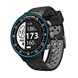 CANMORE TW-410G GPS Golf Watch with Step Tracking - 38,000+ Free Worldwide Golf Courses Preloaded - Minimalist & User Friendly (Black)