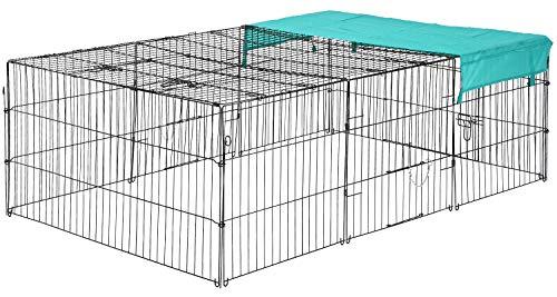 """BestPet 72"""" x 48"""" Pet Playpen w/Door & Cover Rabbit Enclosure"""