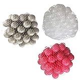 300 Bälle für Bällebad gemischt mix mit pink, transparent und grau