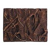 TEHAUX Root 3D placa de fondo de PU decorativo tablero de fondo para pecera acuario (marrón) decoraciones de pecera
