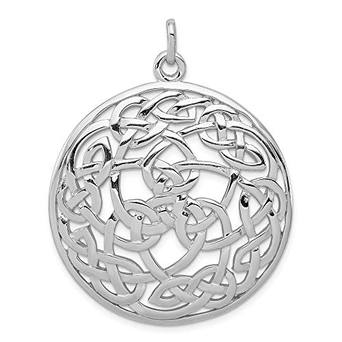 925 Sterling Silver Irish Claddagh Celtic Knot Pendant Charm Necklace Fine Jewelry For Women Gifts For Her