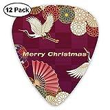 Flying Bird Fan Merry Christmas Guitar Picks Premium Picks para guitarras eléctricas acústicas Bajo o ukelele