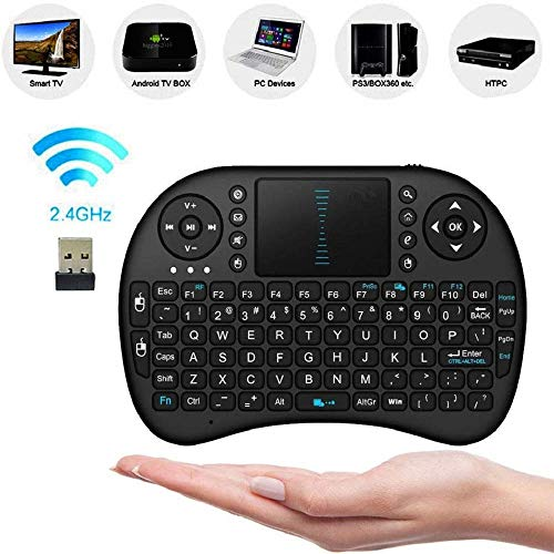 FidgetFidget 2.4Ghz Wireless Mini Keyboard with Touchpad for PC Android Smart TV Box