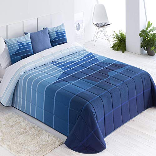 Confecciones Paula - Colcha Bouti NOIA - Cama 105Cm - Color Azul