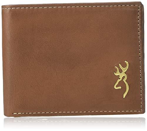 Browning Bi-Fold Wallet, Brass Buck