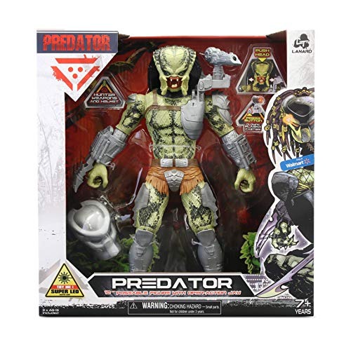 Predator Collection 2021 Classic Predator 12-inch Battle Action Figure with Flexing-Jaw Action