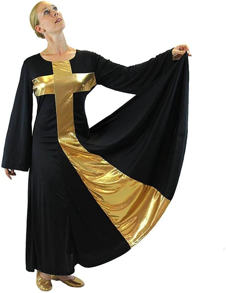 At the price Danzcue New product type Womens Praise Cross Long Dress