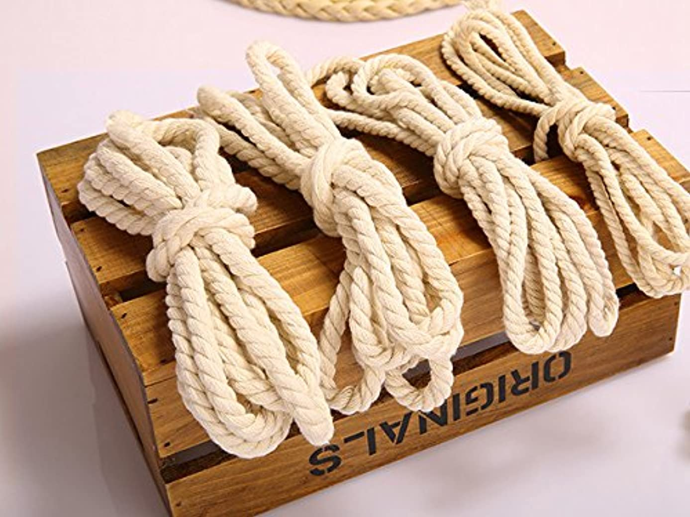 3 Meters Decoration Cotton Rope 5mm 6mm 7mm 8mm 10mm 12mm 15mm 20mm Craft Supplies #2373