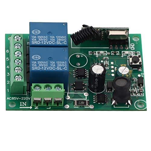 Interruptor de control remoto inalámbrico Rf, interruptor de relé de conexión de conexión segura 220v 433 mhz(2 CH)