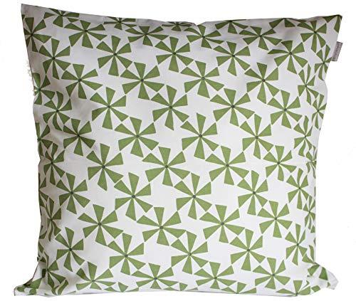 Linum Spinn Kissenhülle 50cm x 50cm Aus Baumwolle Mit Reißverschluss (A18 grün)
