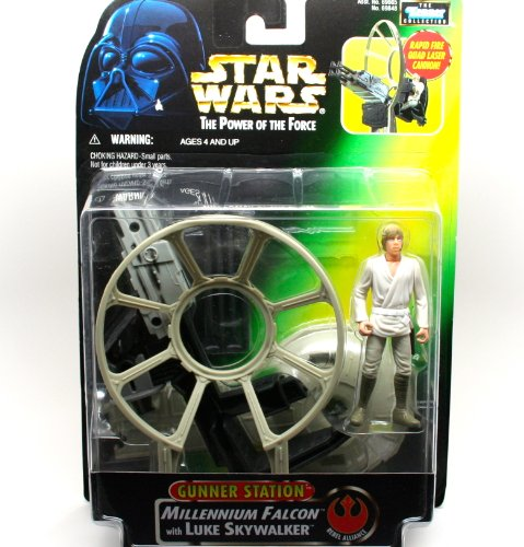 Gunner Station Millennium Falcon with Luke Skywalker - Star Wars Power of the Force Collection von Hasbro / Kenner