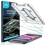 LK [3 Pack] Screen Protector for iPhone 11 6.1 inch, Tempered Glass [Case Friendly] [Anti-Scratch] HD Clear 9H Hardness Double Defence Technology Positioning aid [Easy-Installation Tool]