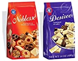 Hans Freitag Desiree Wafers and Noblesse Wafer Cookies, 14.0 Ounce (1 of Each)