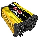 Benkeg 変更された正弦波インバーター高周波4000WピークパワーワットパワーインバーターDC 12VからAC 110Vへの変換器2.1AデュアルUSBポートバッテリークリップ付き