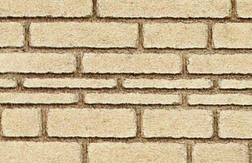Heki 70602 Hewn Natursteinwand 0/1/H0,2 Stück, Größe 50 x 25 x 0,3 cm, Mehrfarbig