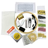Beginners Advanced for Kids,Adults,Women Hand Embroidery Material DIY Kit Total 15 Item