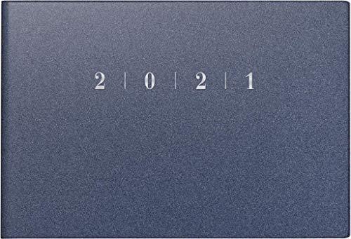 rido/idé 7017563301 Taschenkalender Septimus, 2 Seite = 1 Woche, 152 x 102 mm, Kunststoff-Einband Reflection blau, Kalendarium 2021
