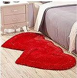 Alfombras de área 3D linda encantadora doble alfombra en forma de corazón sala de estar en casa mesa de café...