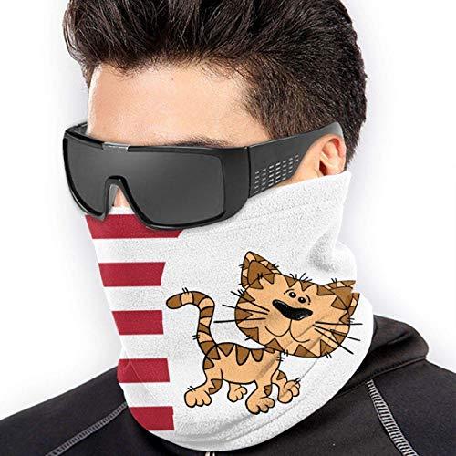 XXWK Halstuch/Kopftuch, Cartoon Cat Walking Micro Fiber Seamless Windproof Bandana & Face & Neck Warmer Gaiter Shield - for Mens Womens