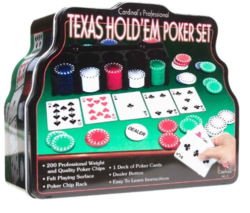 Spin Master Games Cardinal Industries Deluxe Texas Hold 'Em Set in Tin