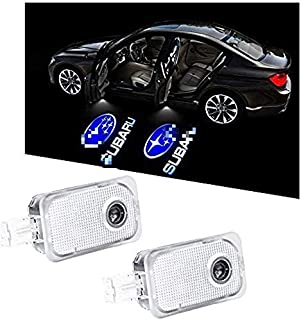 2-Pack Ultra-Bright LED Courtesy Puddle Lights, Car Door Logo Projector Step Light, For Subaru OutBack Legacy Forester XV Impreza Tribeca