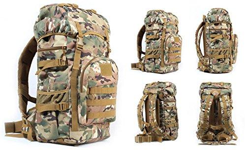 Greenpromise 50L al aire libre Militar táctica mochila de gran capacidad camping bolsas de montañismo bolsa de los hombres senderismo mochila de viaje (camuflaje CP)