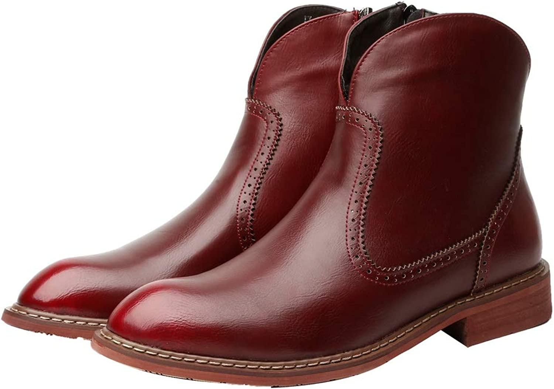 Dig dog bone Men's Boots Casual Simple Anti-Slip Outsole Side Zipper Popular Retro Trend Martin Boots