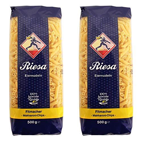 2er Pack Riesa Nudel Fitmacher Makkaroni Chips (2 x 500 g) Teigwaren, Riesa Nudeln, Pasta