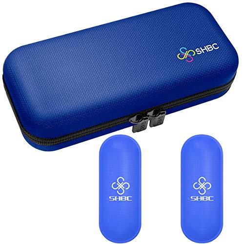SHBC Estuche de viaje para diabético insulina enfriador refrigeración organizar medicamento aislado bolsa con 2 bolsas de hielo azul