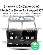 Ossuret Android 10 Auto Stereo GPS Navigatie met 9 Inch Touchscreen Fit voor 2002-2013 Peugeot 307 / 307CC / 307SW Ondersteuning Aodroid / IOS Mirror-link FM-radio(Canbux box niet inbegrepen)