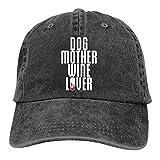 Zomsun Gorras de béisbol Sombrero de béisbol Unisex Ajustable Vintage Dog Mother, Wine Lover' Cool Dog Gift