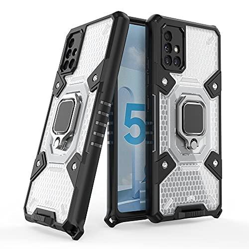 Caso compatible con Samsung Galaxy A51 5G, caja anti-rayado con soporte de rotación de 360 °, [soporte de montaje en coche magnético] Estuche de protección contra caídas a prueba de golpes para Sams