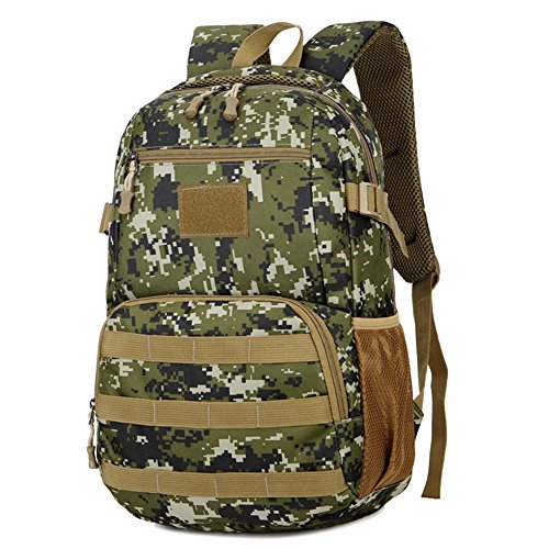 Hommes Tactiques Sacs Hommes Sacs De Voyage Ultralight Chasse Gamme Soldat Ultime Stealth Heavy Duty Transporteur Sac À Dos Imperméable Avec Patch 28 * 45 * 16 Cm (W * H * D) WENTAO,Digitalcamouflage