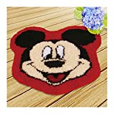 Latch Hook Kit Rug Throw Pillow Cover Disney Mickey Minnie Pillow Cushion Latch Hook Embroidery Kit 5050cm