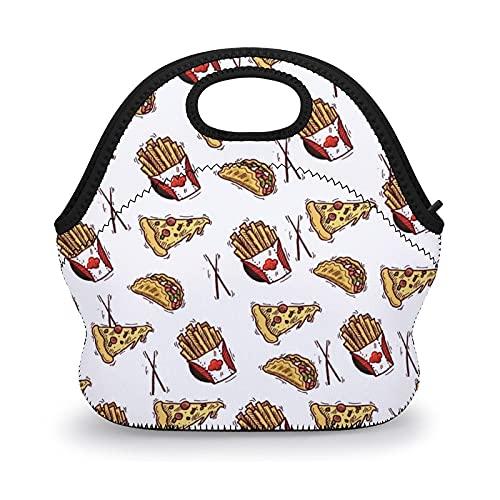 Bolsas de almuerzo reutilizables para hamburguesas, para pizza, fritas y hamburguesas