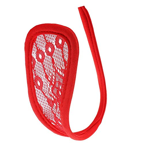 heekpek Tangas Mujer Invisible Sexy Cordón Mujeres Bragas C-String Tanga Abierto Tangas C Lenceria Erótica Atractiva Braguitas Mujer Ropa Interior (Rojo)