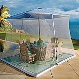 BCXGS Parasol moustiquaire, Parasol de Jardin Couverture Protection Solaire avec Fermeture éclair,...