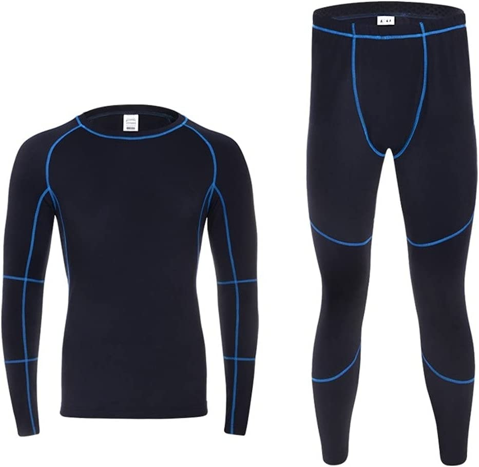 GYZCZX Thermal Underwear Sets Men Winter Fleece Long Johns Comfortable Warm Thermo Underwear Thickening Breathable Tights (Color : A, Size : XL Code)