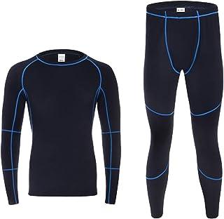 WZHZJ Thermal Underwear Sets Men Winter Fleece Long Johns Comfortable Warm Thermo Underwear Thickening Breathable Tights (...