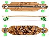 Maxofit Geolines No.40 Drop Through - Longboard (106,5 cm, capas de bambú y arce, rodamientos ABEC...