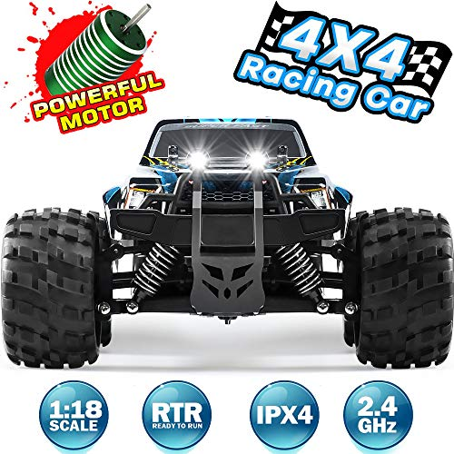 Remote Control Car Newest RC Truck for Kids 4WD 2.4GHZ Off Road 1:18 Scale High Speed Racing Cars