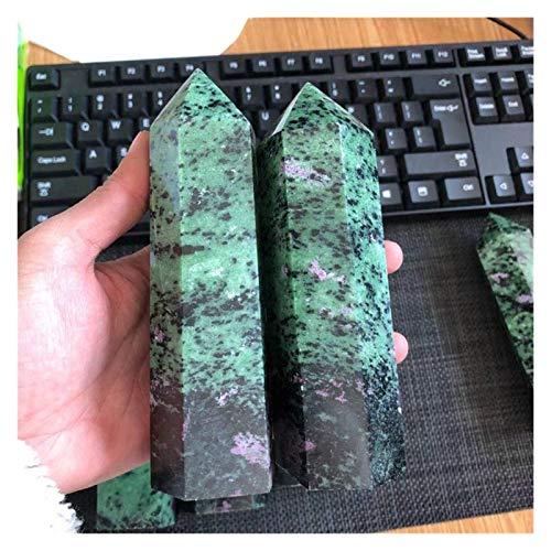 LUOSI Rubys Naturales ZIOSITE Cristal DE CURBOLZ CURTUROS para Acuario DIY Crafts Haciendo Adornos Collares (Color : 1pcs, Size : 130 140mm)