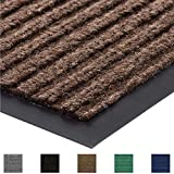 Gorilla Grip Original Commercial Grade Rubber Floor Mat, 29x17, Heavy Duty, Durable Doormat for Indoor and Outdoor, Waterproof, Easy Clean, Low-Profile Mats for Entry, Patio, High Traffic, Brown