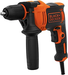 Black+Decker 550W 2,800 RPM Corded Hammer Drill with Forward/Reverse Function for Wood, Metal & Masonry Drilling, Orange/B...