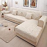 sofa cama 2/3/4 plazas,Funda de sofá de algodón, toalla acolchada para funda de sofá, fundas de sofá acolchadas universales de 4 estaciones, fundas protectoras para muebles para niños, fundas de alm