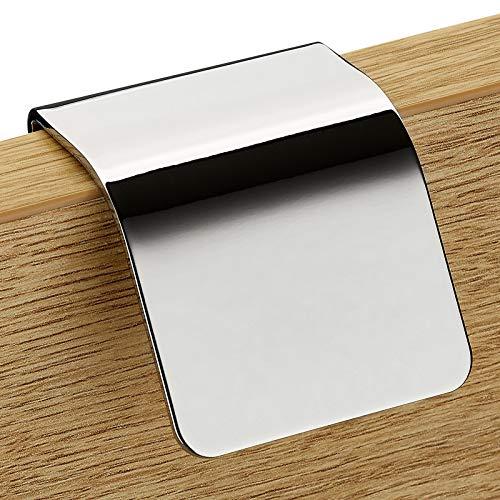 Möbelgriff TURF BA 32 mm Chrom poliert Schrankgriff Schubladengriff Küchengriff von JUNKER DESIGN