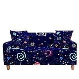 WXQY Funda de sofá elástica en Forma de L, impresión de constelación Adecuada, Antideslizante, Todo Incluido, Funda de sofá, sillón A9 de 4 plazas
