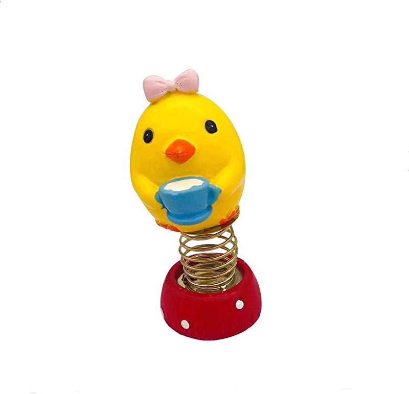 AA Fashion Toys Gift Lovely Chick Spring Dancing Animal Car Decor Swinging Animated Dancer Toy Kids