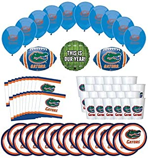 Mayflower Products Florida Gators Football Tailgating Party Supplies for 20 Guest and Balloon Bouquet Decorations