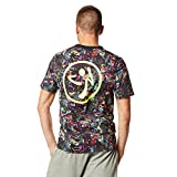 Zumba Fitness Get Hyped Up V Neck Camiseta, Hombre, Multicolor, XS